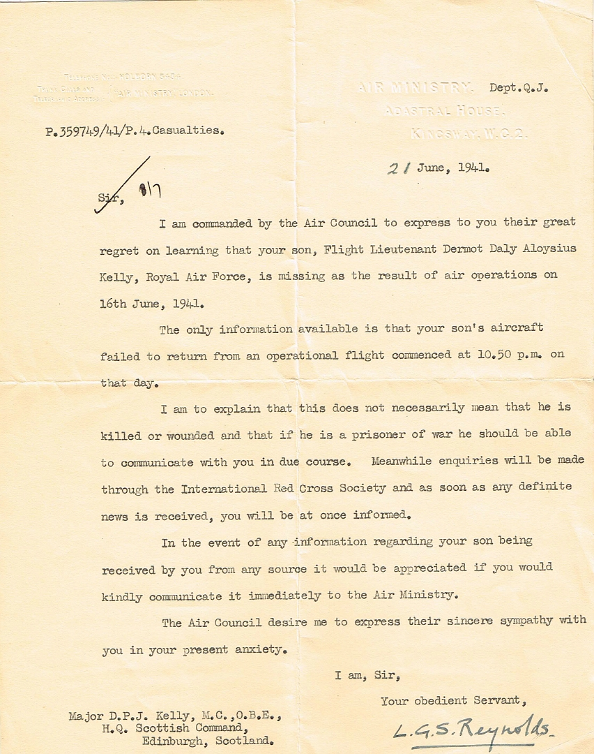 GeertLetter 21 June 1941 to Major should be Lt. Colonel D